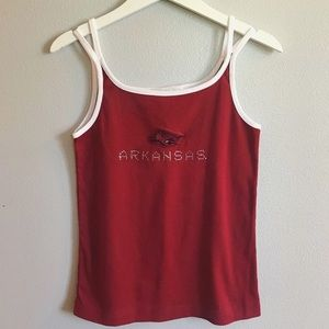 Tops - Arkansas Razorbacks tank top
